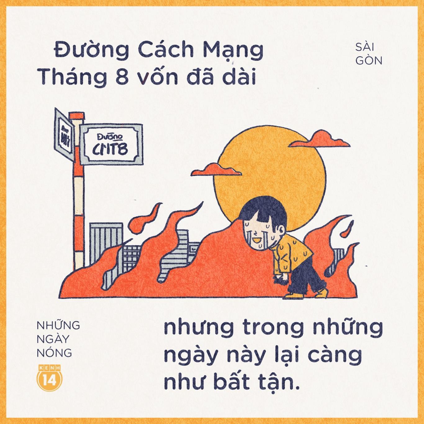 """Nhà ai mà ở đường Cách Mạng Tháng 8, Cộng Hoà hay Trường Chinh chắc đều hiểu cảm giác """"đi hoài đi mãi"""" là gì. Chạy xe trong Sài Gòn mà cứ tưởng mình đang ngao du ở sa mạc nào đó không thôi..."""