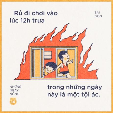 Sài Gòn ngày nóng không cần thần thái, chỉ cần có chỗ trốn